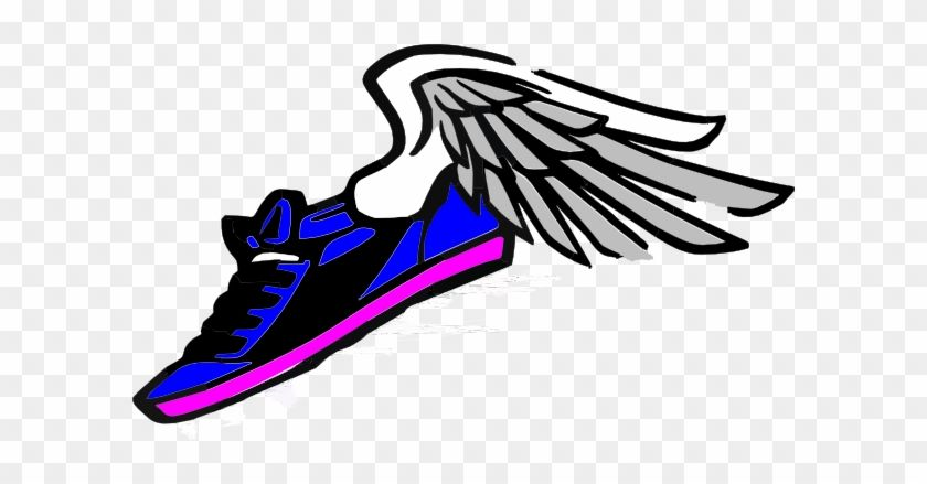 Running Shoe with Wings Logo.