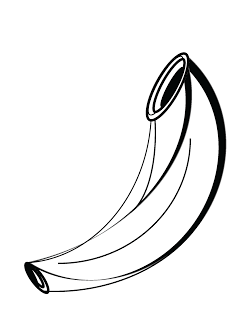 Free Shofar Clipart to use for your printables!.
