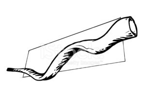 Shofar stock vectors.
