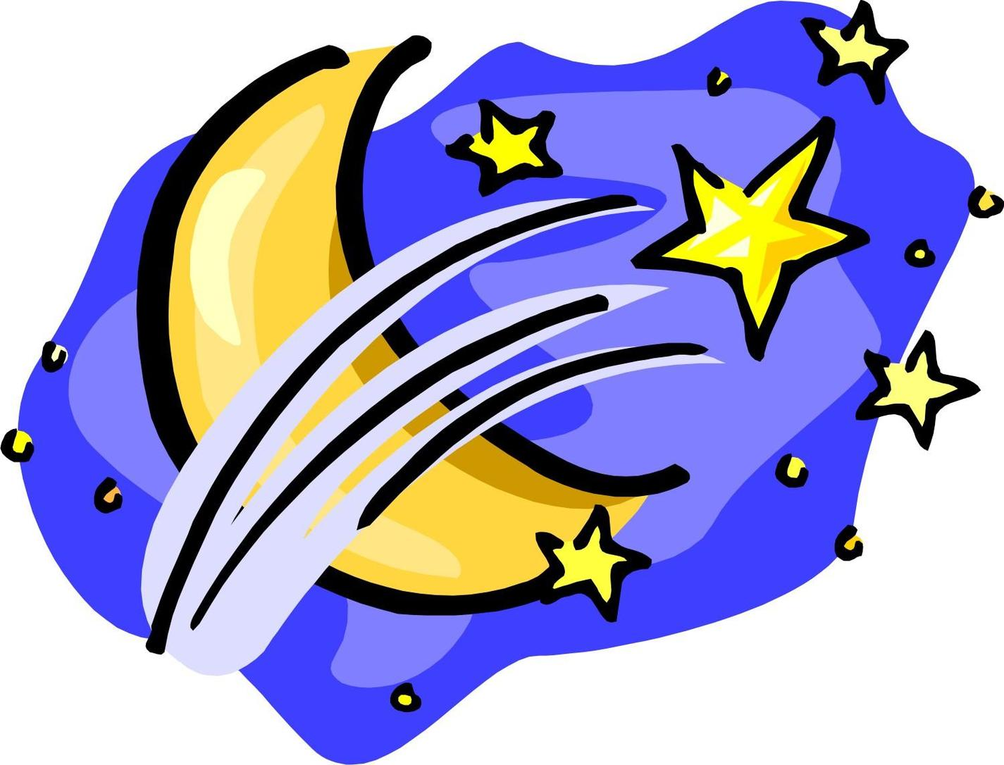 moon and stars clipart free - Clipground