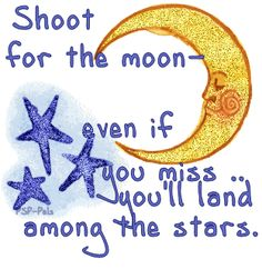 Shoot for the moon clipart.