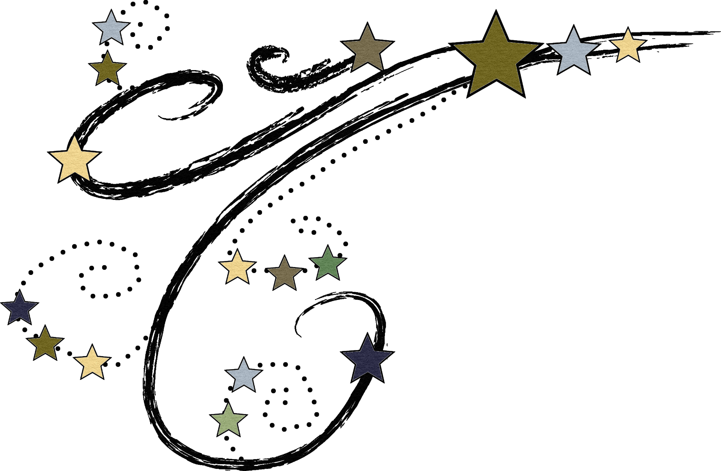 Clipart shooting star free.