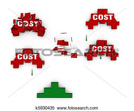 Stock Illustration of Shoot down the costs k5930435.