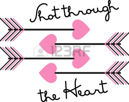129 Arrow Through Heart Stock Vector Illustration And Royalty Free.
