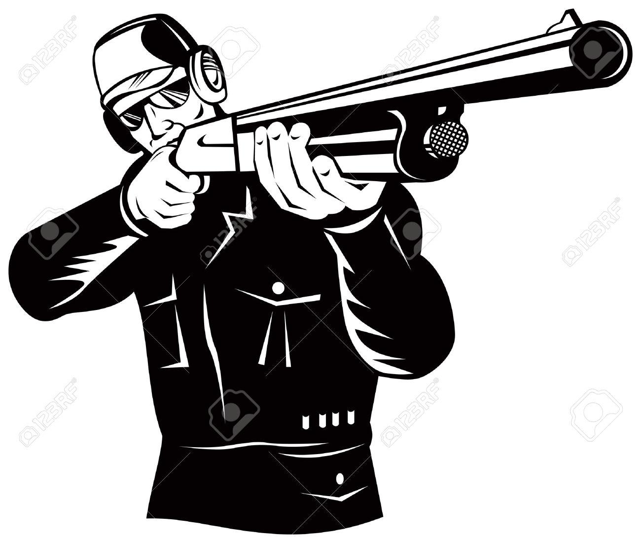 Clipart gun shooting.