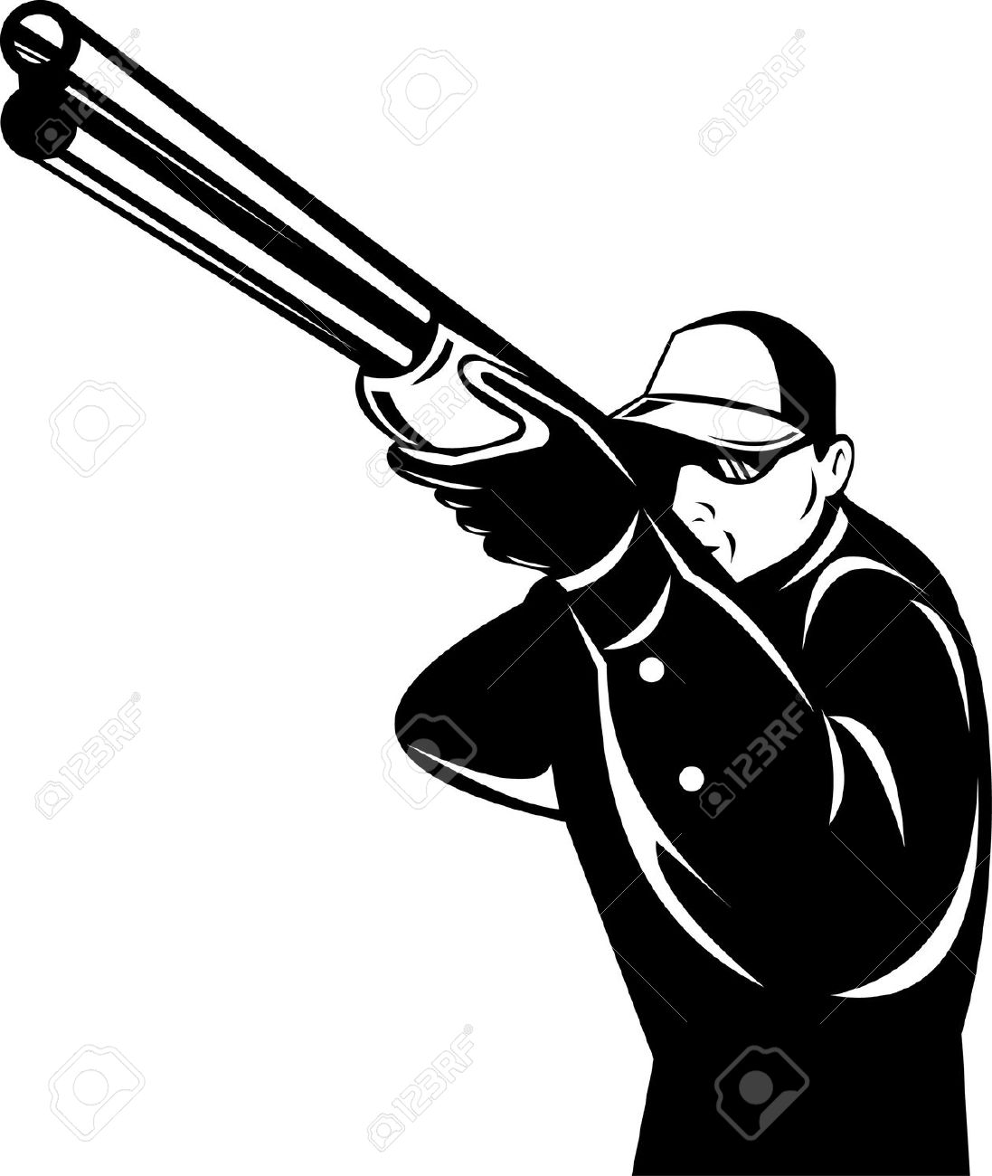 Trap shooter clipart.