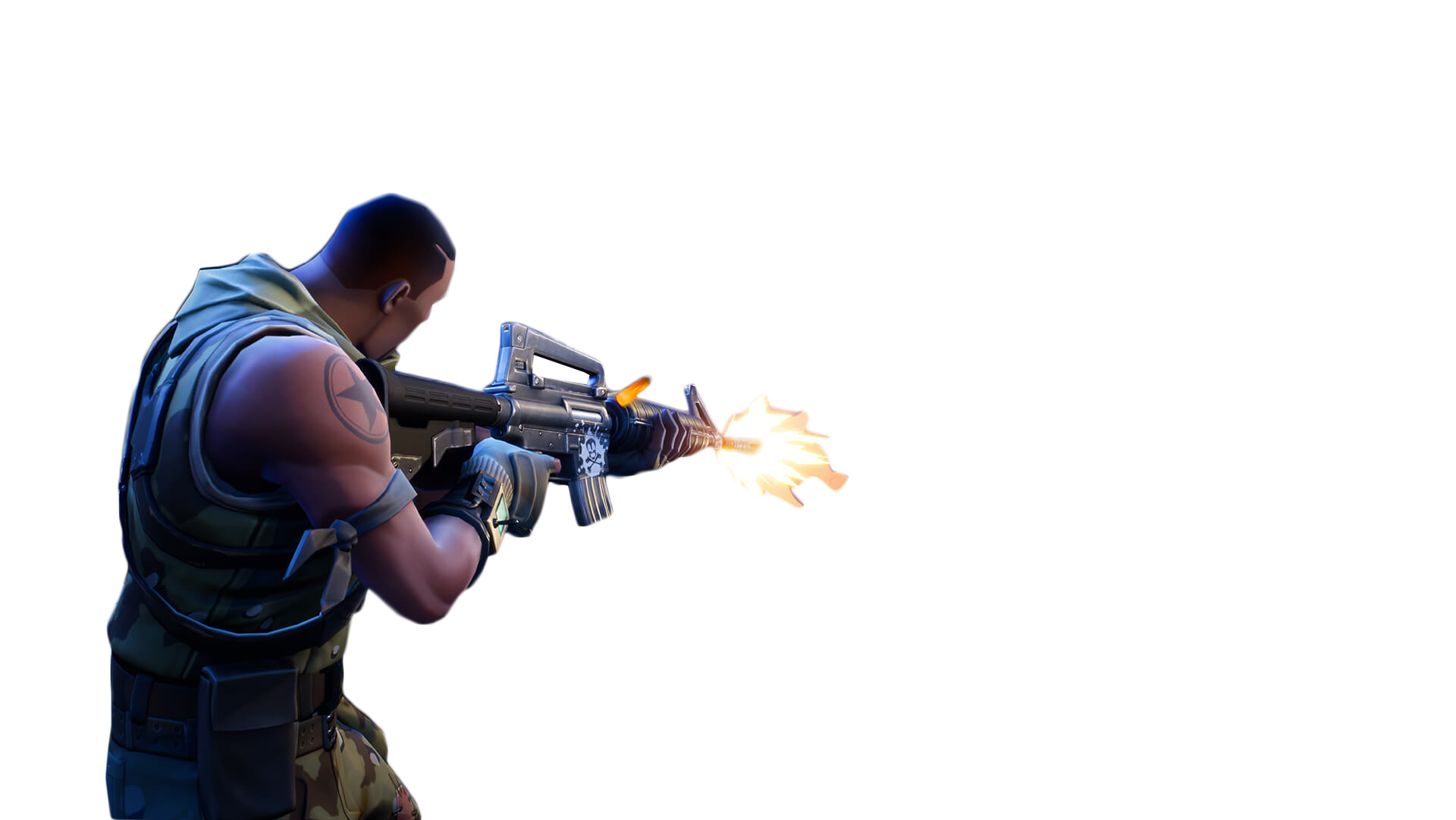 Person Shooting Fortnite Thumbnail Template PNG Image.