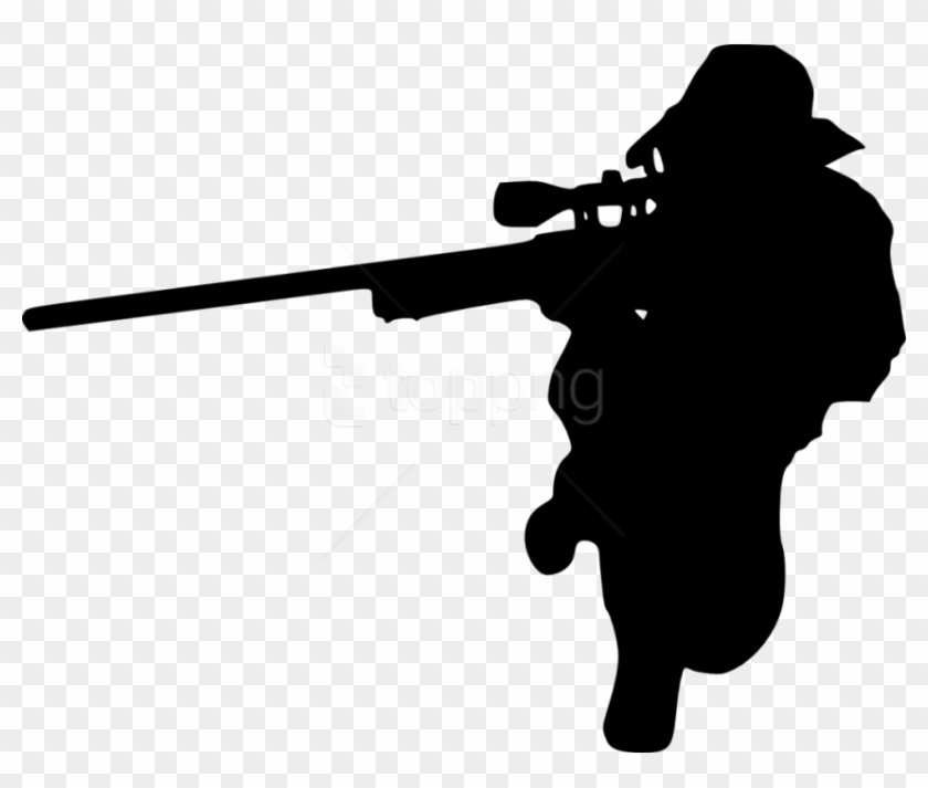 Free Png Sniper Shooter Silhouette Png.