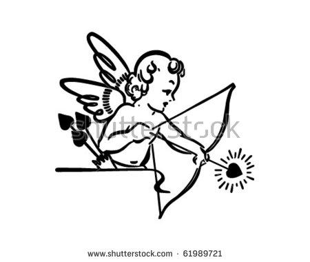 Cupid Shooting Arrow.