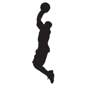 Clipart Front View Of Man Shooting Basketball.