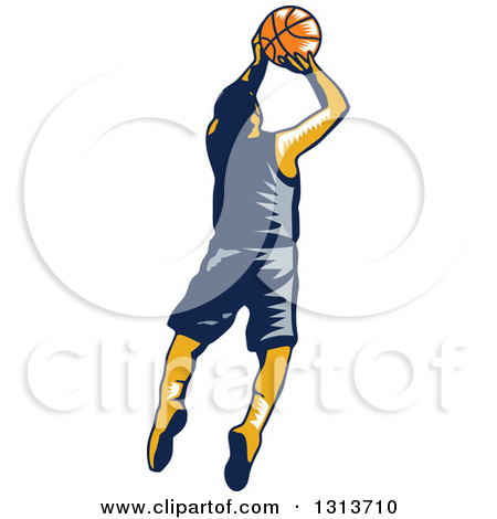 player shooting clipart.