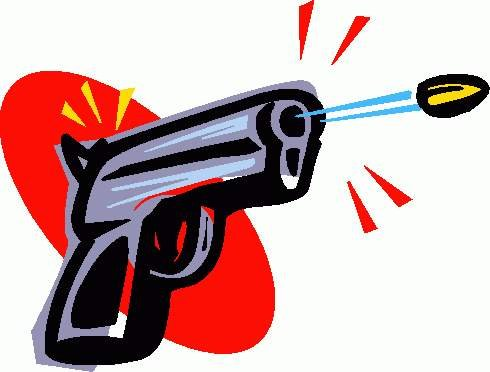Clipart shooting gun.