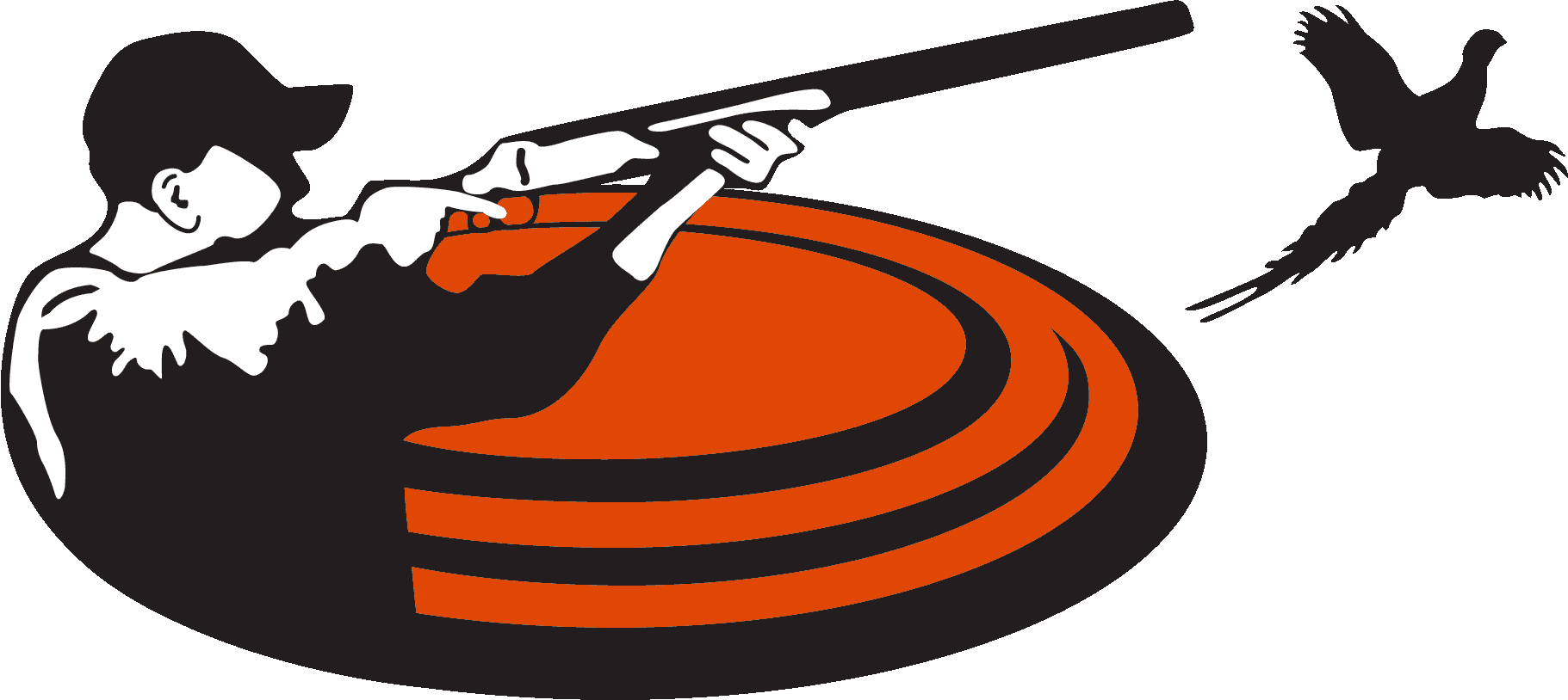 Shooting Clays Clipart.
