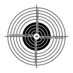 Clip Art Vector of The target for shooting practice at a shooting.
