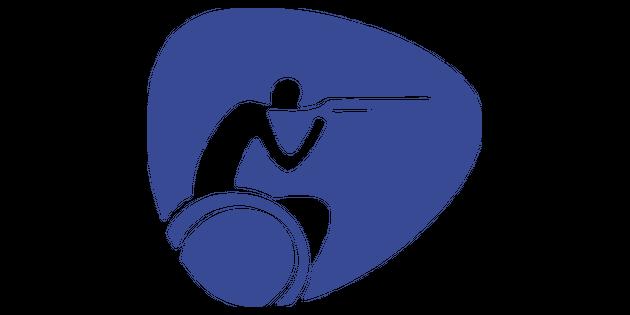 Paralympics Shooting Logo Illustration.