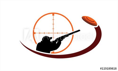 Skeet shooting logo.