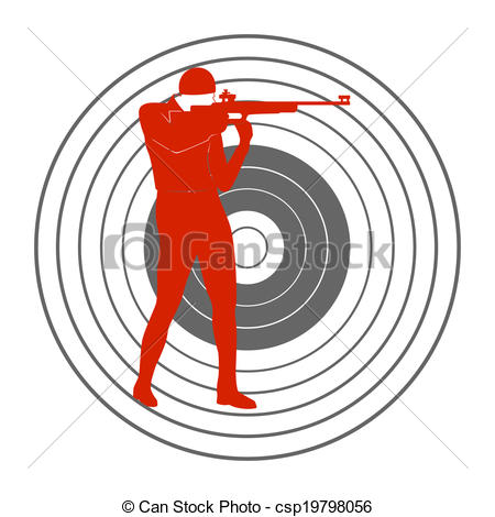 Clipart Vector of Bullet shooting.