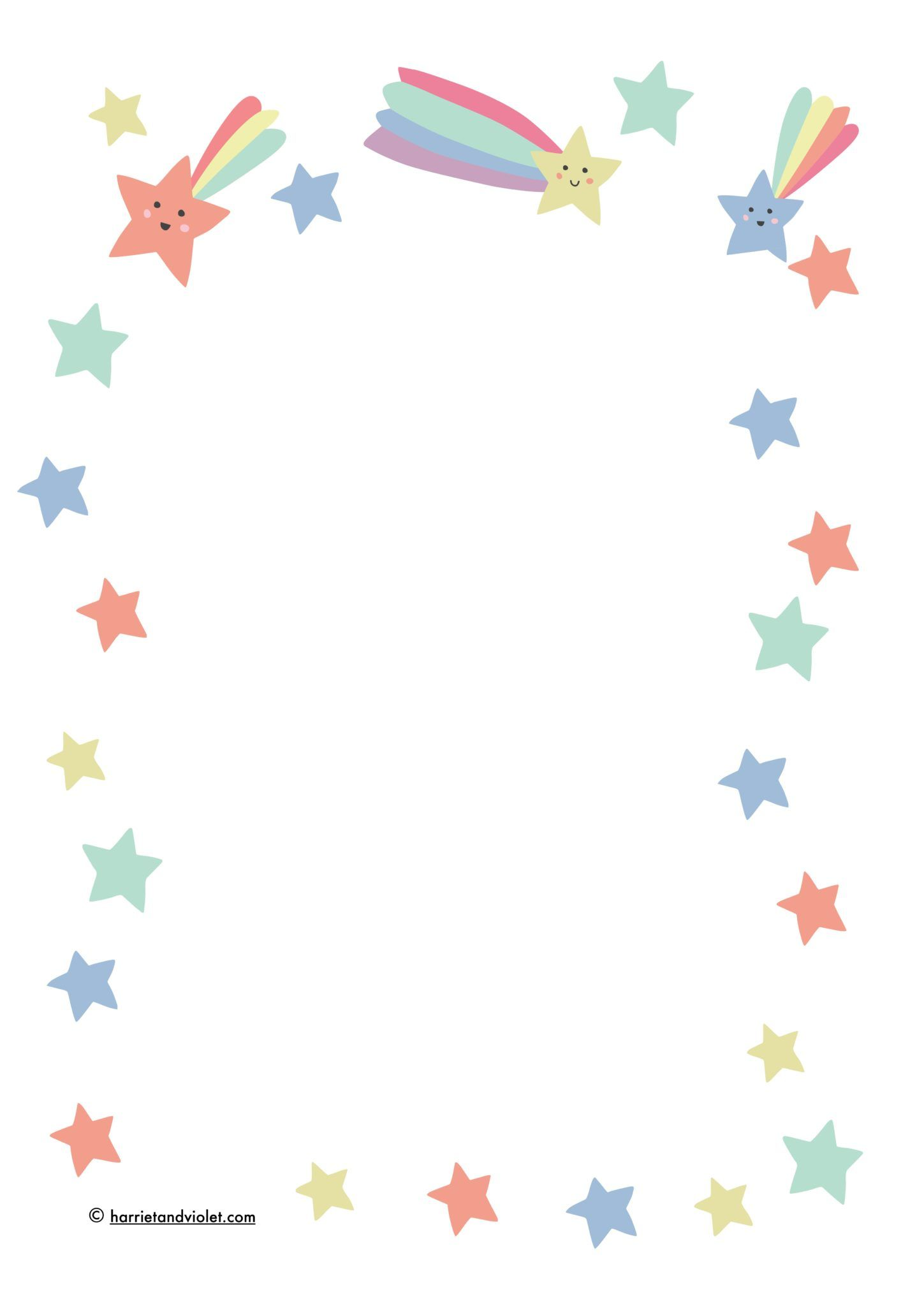 Shooting Star Writing Paper.