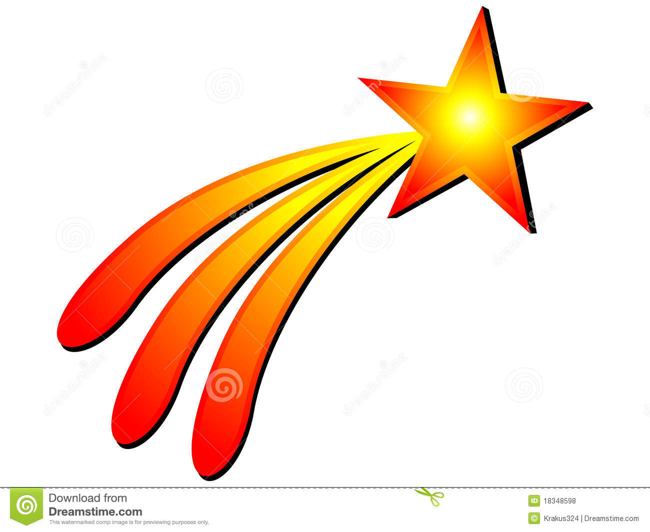 9+ Shooting Star Clipart Free.