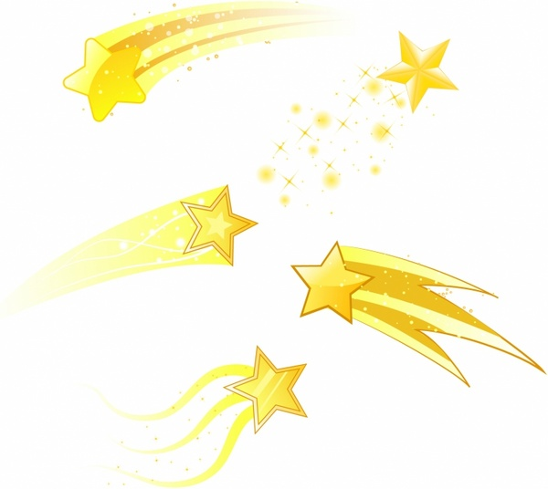 Shooting Stars Free vector in Adobe Illustrator ai ( .AI.