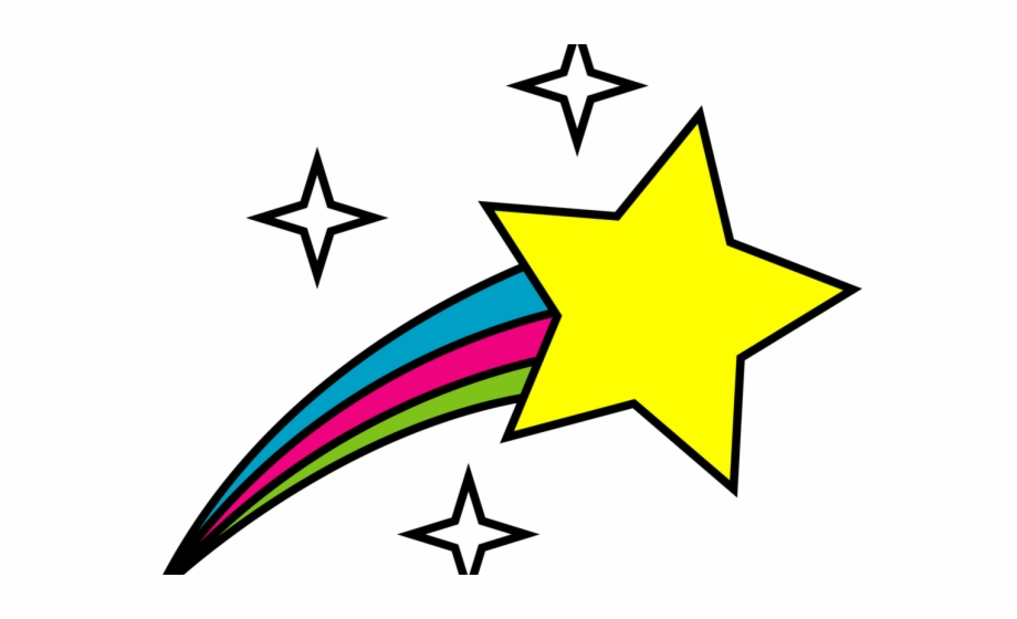 Drawn Falling Stars Real Transparent Shooting Star Clipart.