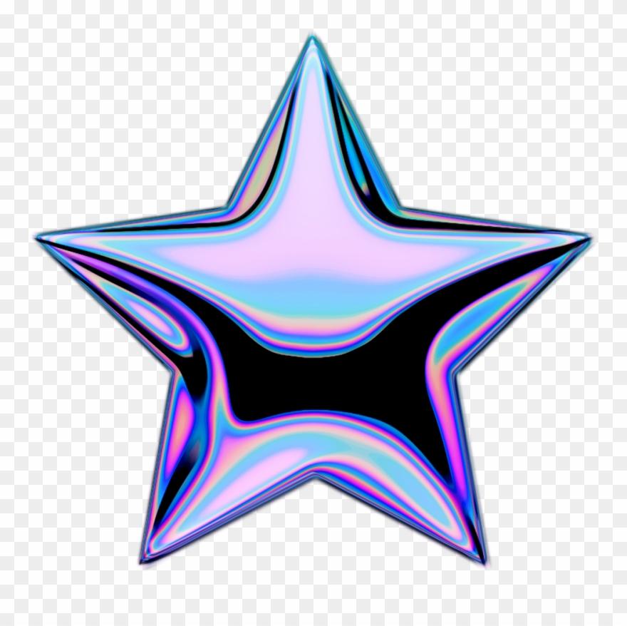 Holo Holographic Shootingstar Stars Star Emoji Iridesce.
