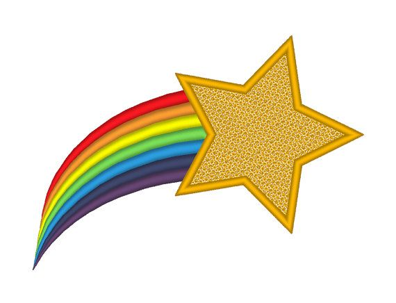 Shooting Star Rainbow Tail Embroidery Machine by.