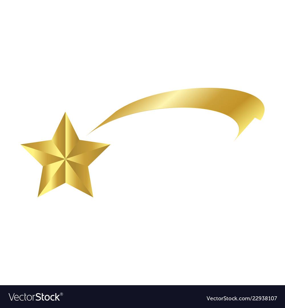 Christmas ribbon shooting star icon symbol design.
