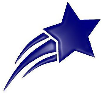 Blue clipart shooting star, Blue shooting star Transparent.