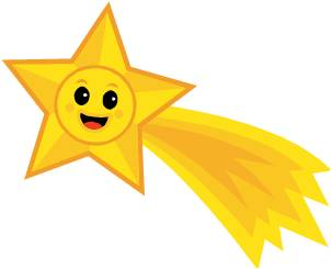 Shooting stars clip art.