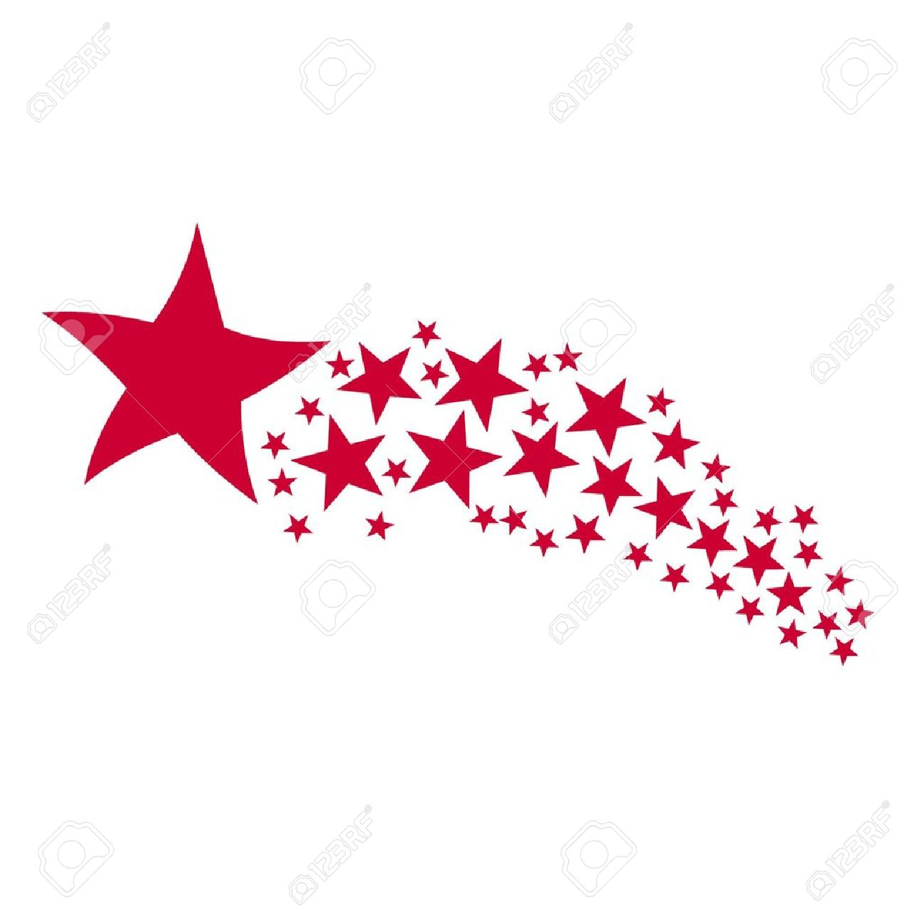 Free clipart shooting star.