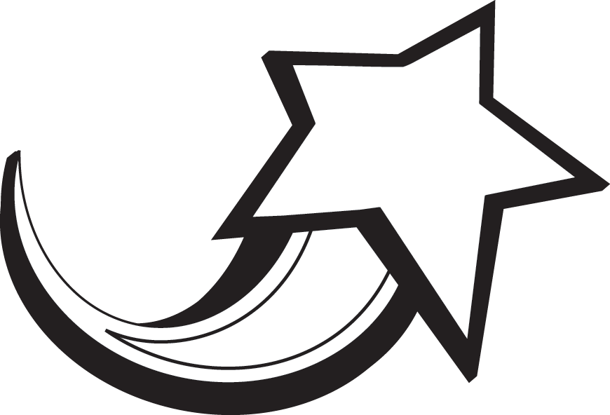 Shooting Star Clipart Black And White.