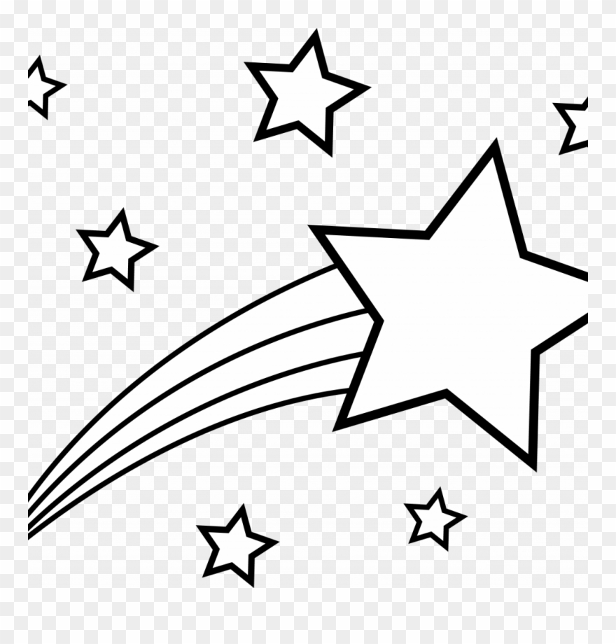 Coloring Pictures Of Shooting Stars With Best Star.