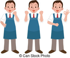 Shop assistant Vector Clipart EPS Images. 652 Shop assistant clip.