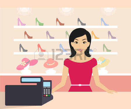969 Shop Assistant Stock Vector Illustration And Royalty Free Shop.