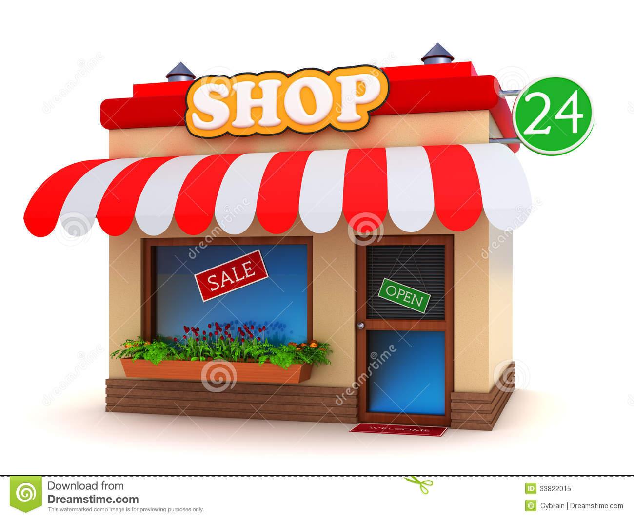 Shop Front Clipart.