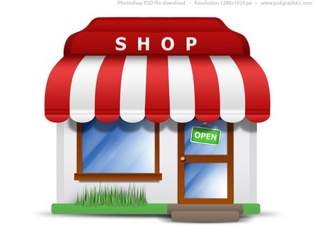 Small store icon (PSD) Clipart Picture Free Download.