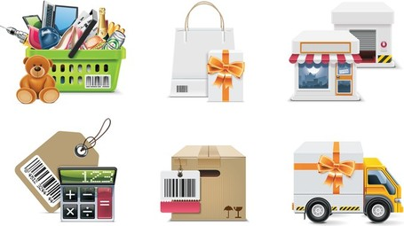 Shop Shopping Decoration, free vectors.