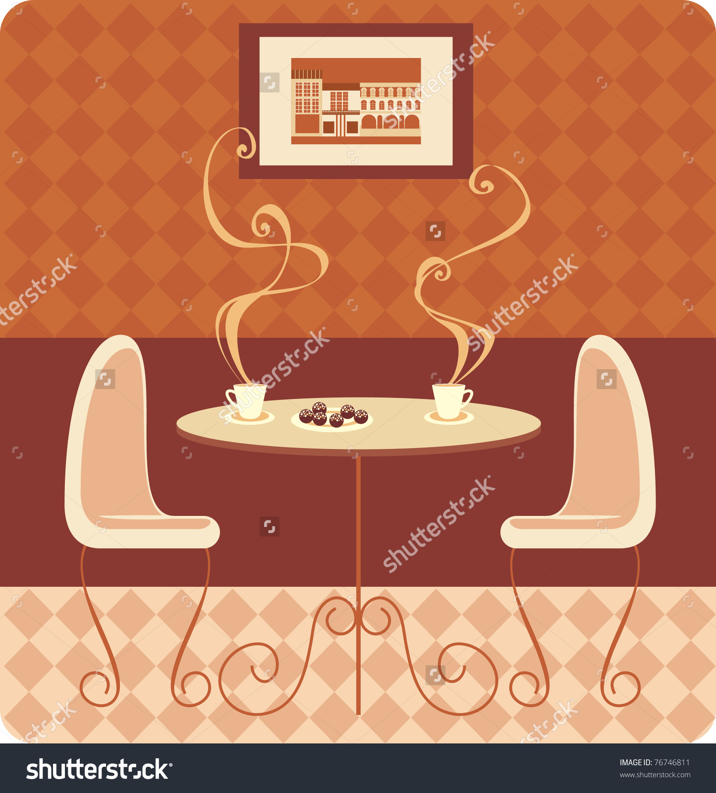 Coffee Shop Stock Vectors Vector Clip Art Shutterstock For Two.