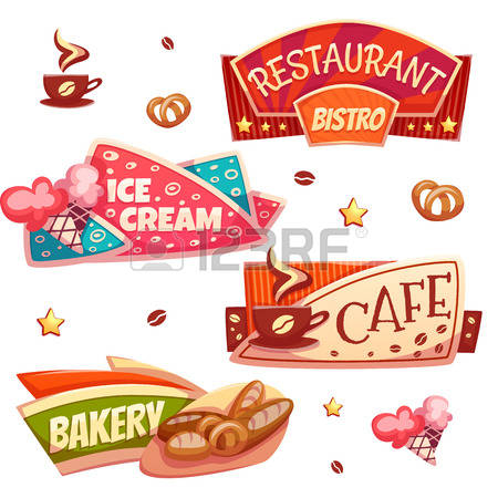 Coffee Shop Decoration Cliparts, Stock Vector And Royalty Free.