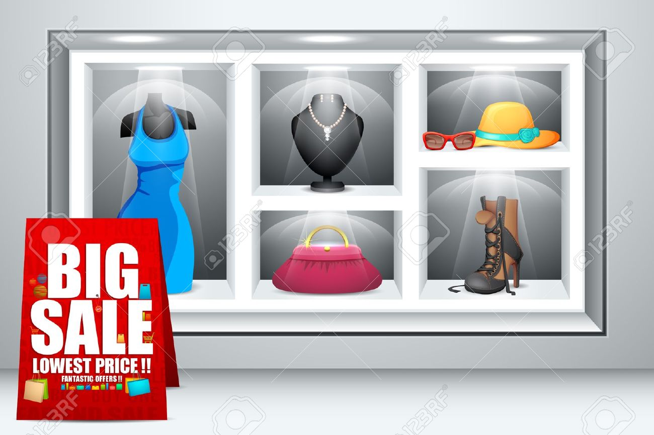 Display Of Fashion Accessory Royalty Free Cliparts, Vectors, And.