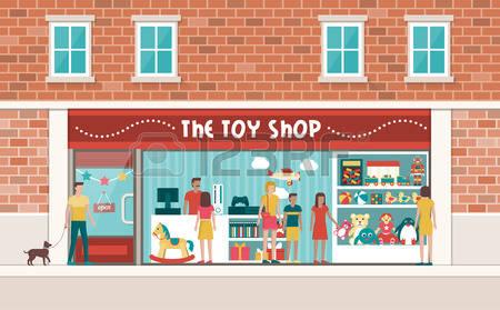 Toy shop clipart.