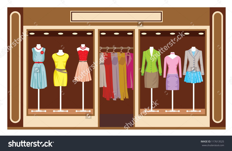 Boutique Womens Clothing Shop Vector Stock Vector 117613525.