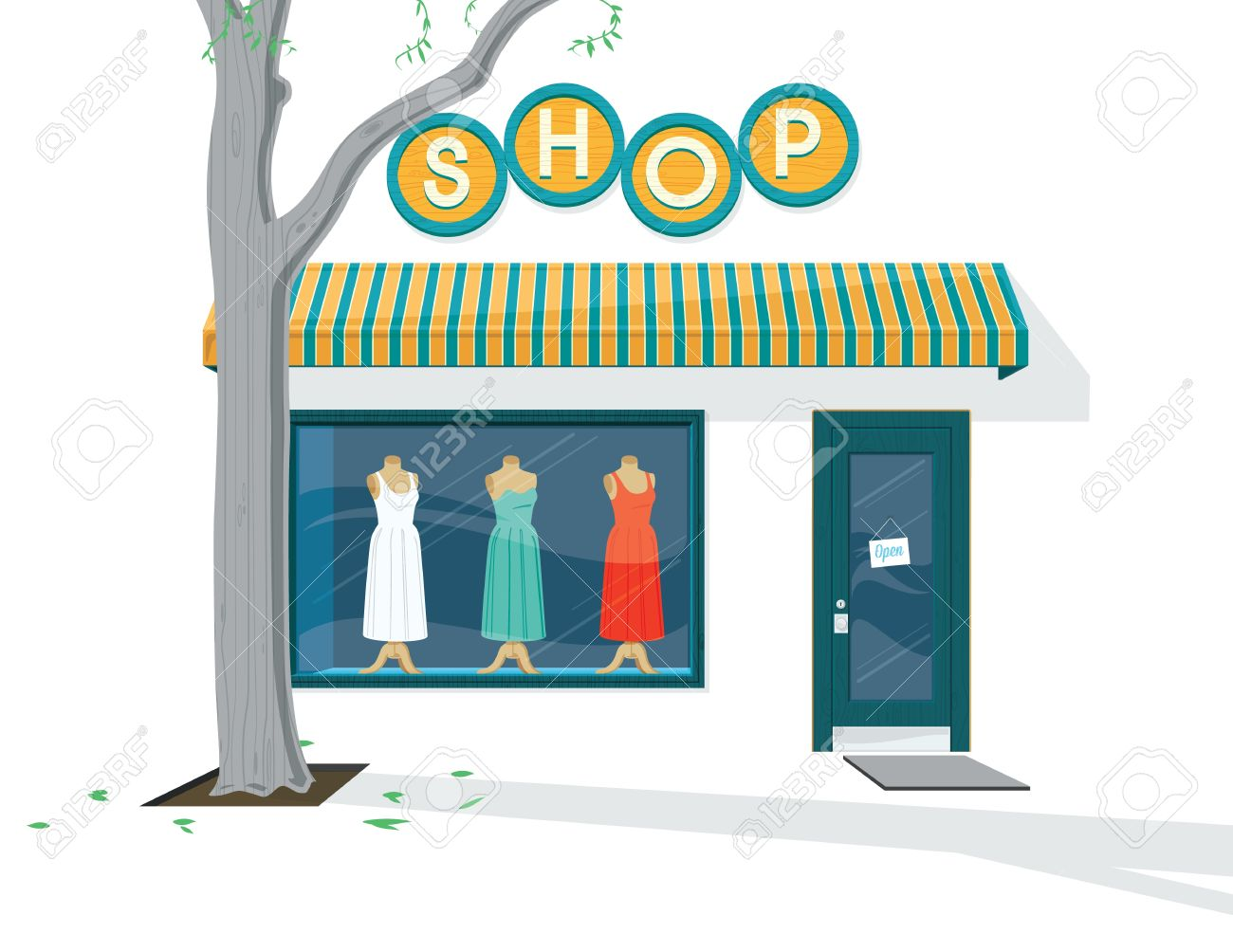 Shop Exterior Illustration Of The Exterior Of A Dress Shop Royalty.