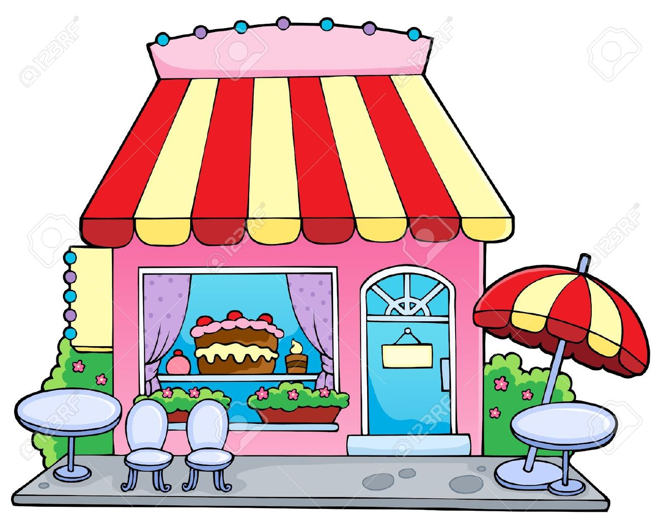 Cartoon Candy Store.