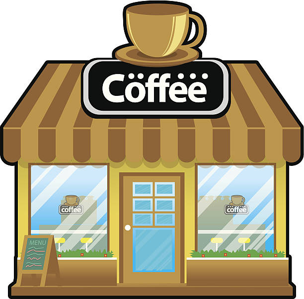 Coffee Shop Entrance Clip Art, Vector Images & Illustrations.