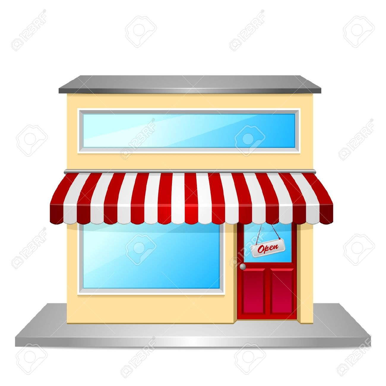 Shop front clipart clipground for Outlet design online