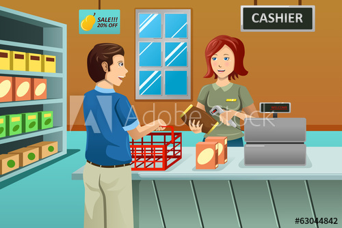 Cashier clipart shop keeper, Cashier shop keeper Transparent.