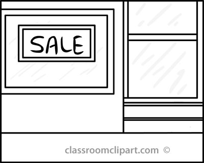 Store Black And White Clipart.