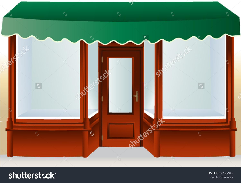 Shop Window Stock Vector 122064913.